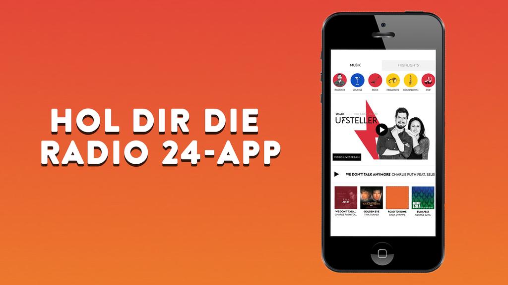 Hol dir hier die Radio 24-App