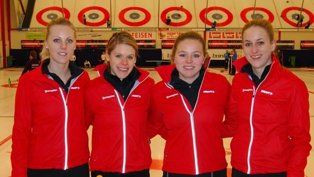 Nadine Lehmann, Skip Manuela Siegrist, Alina Pätz und Nicole Dünki von Basel-Regio. Quelle: AFR