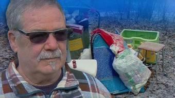 Mit dem öffentlichen Abfallkübel verschwindet auch der illegal deponierte Güsel