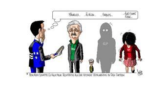 Karikatur zur Regierungsratswahl