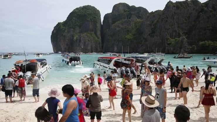 Seit dem Film «The Beach» wurde die Insel Maya Bay zum Touristenmagnet.