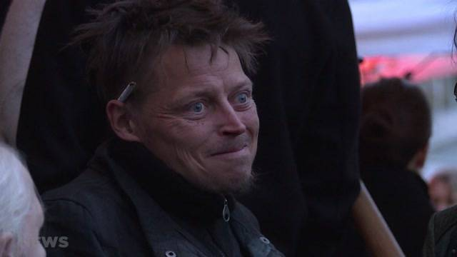 Obdachloser landet Hit-Vernissage
