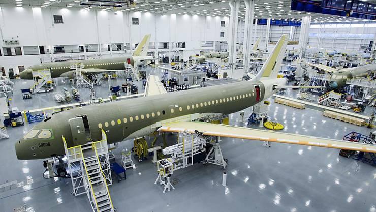 Bombardier-Montagehalle im kanadischen Mirabel, Quebec. Werden hier bald Flugzeuge für den Iran gefertigt? (Archivbild)