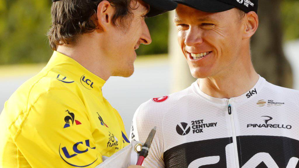 Verzichten auf die Weltmeisterschaften in Innsbruck: Chris Froome (rechts) und Geraint Thomas (links)
