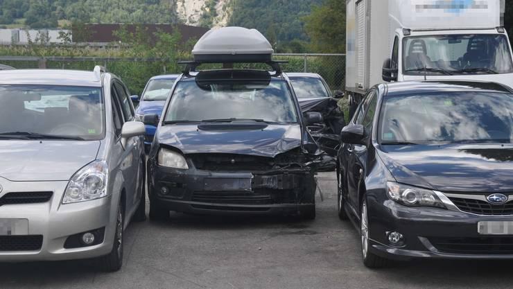 Die drei beim Unfall beteiligten Fahrzeuge.