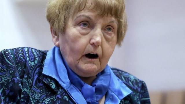 Die Auschwitz-Überlebende Eva Kor während des Prozesses in Lüneburg