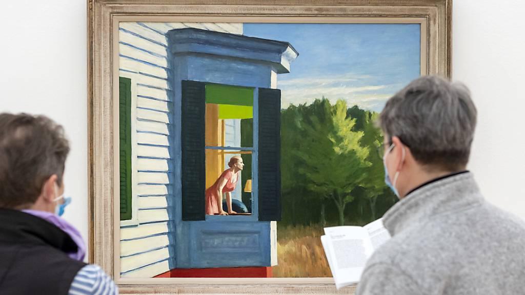 Das Gemälde «Cape Cod Morning» bleibt länger hängen: Die Fondation Beyeler verlängert die Ausstellung mit Werken von Edward Hopper bis 20. September.