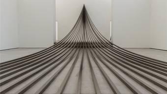 Auch die ausserordentlichen Stahlskulpturen, die Fretzel 2015 im Haus der Kunst in Solothurn schuf, sind im Dok-Film «Angelehnt» wieder zu sehen.