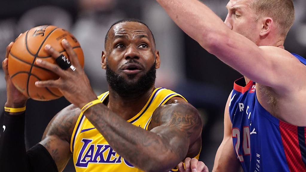 Kein guter Abend: Lakers-Superstar LeBron James.