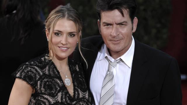 Zerstritten: Charlie Sheen und Ex-Frau Brooke Mueller (Archiv)