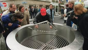 Der Sodbrunnen am Rennweg wurde am 5. Oktober 1999 neu eingeweiht.