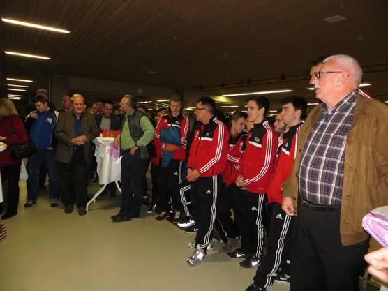 Und hier die Mannschaft vom FC Memmingen, 20 Jahre zu Gast bei uns in Frenkendorf.