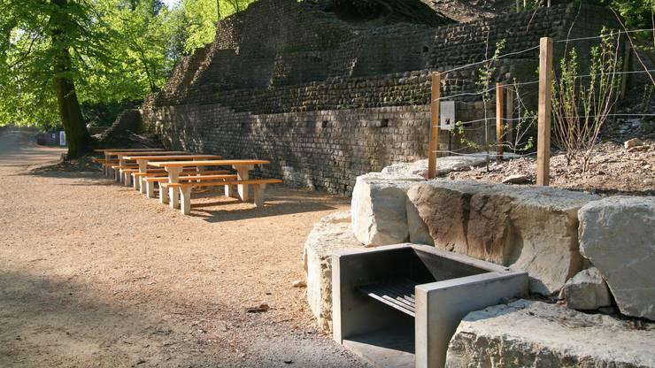 Hier die Grillstation beim Amphitheater.