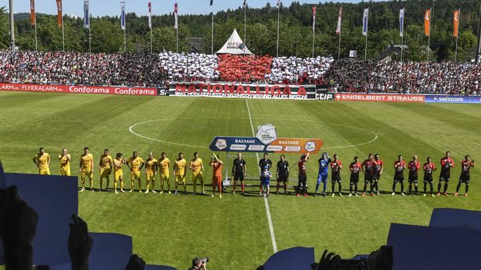 Eindrückliche Kulisse im Brügglifeld vor dem Barrage-Rückspiel am 2. Juni 2019