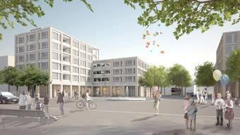 Die Zentrumsüberbauung mit einem Coop und 27 Wohnungen soll den Geroldswiler Finanzhaushalt ab 2022 mit Mietzinseinnahmen entlasten.
