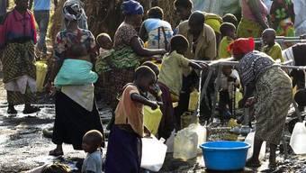 Menschen im Flüchtlingslager Mugunga (Symbolbild)