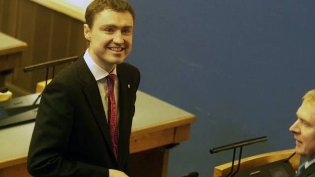 Estlands neuer Regierungschef Taavi Rõivas am Montag