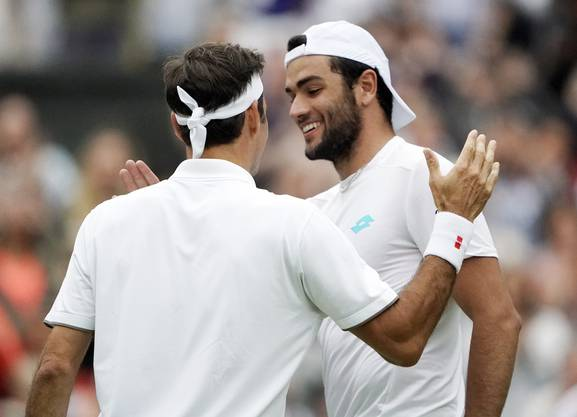 Matteo Berrettini enttäuschte gegen Federer auf ganzer Linie.