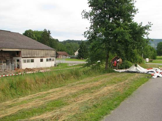 Der Unfallort lag nahe eines Bauernhofes.