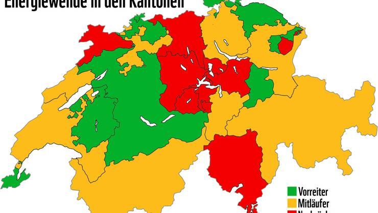 WWF-Rating: Energiewende in den Kantonen