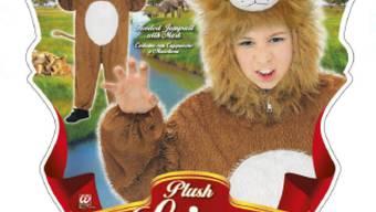 Wer dieses Plüschlöwenkostüm oder andere Kinderkostüme in Filialen der World of Party AG gekauft hat, sollte diese wegen Verbrennungsgefahr nicht tragen.