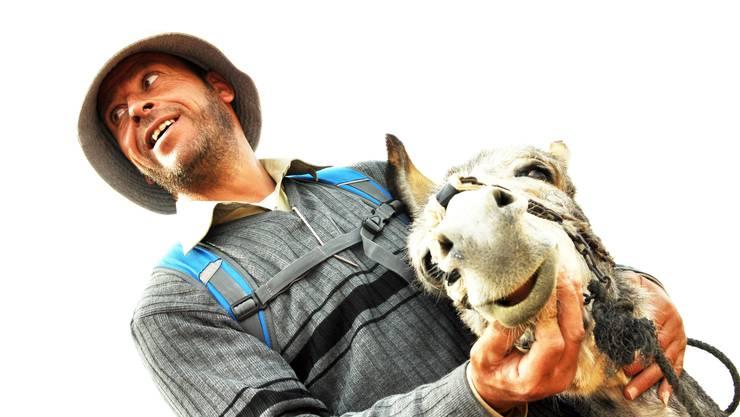 Wenn sein Esel bockt, dann ist Habib eigentlich ganz froh.