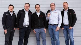 Von links: Daniel Schraner, Jan Ammann, David Müller, Stefan Hauenstein, Manuel Heimgartner. zvg