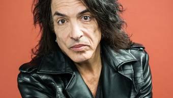 """Der Gitarrist und Frontmann der Band """"Kiss"""", Paul Stanley, tritt gerne dick geschminkt auf. (Archiv)"""
