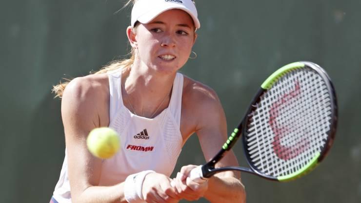 Erstes WTA-Turnier, erster Grosserfolg - Simona Waltert schlägt Julia Goerges mit 6:7, 6:4, 3:2 w.o.