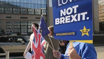 In London wollen sich am heutigen Samstag erneut tausende Brexit-Gegner versammeln. (Archivbild)