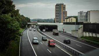 Die A1 bei Lenzburg.