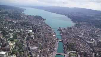 Luftbild von Zürich.