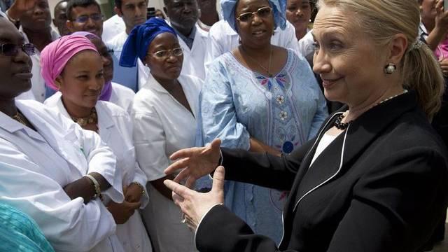 Hillary Clinton bei ihrem Besuch in Dakar