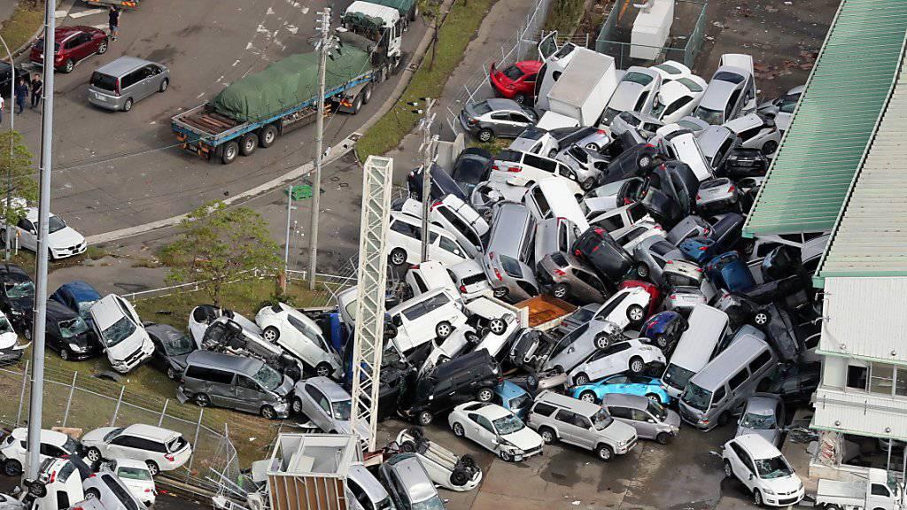 Der Taifun «Jebi» richete in Japan grosse Schäden an. Mindestens elf Menschen starben durch den Wirbelsturm.