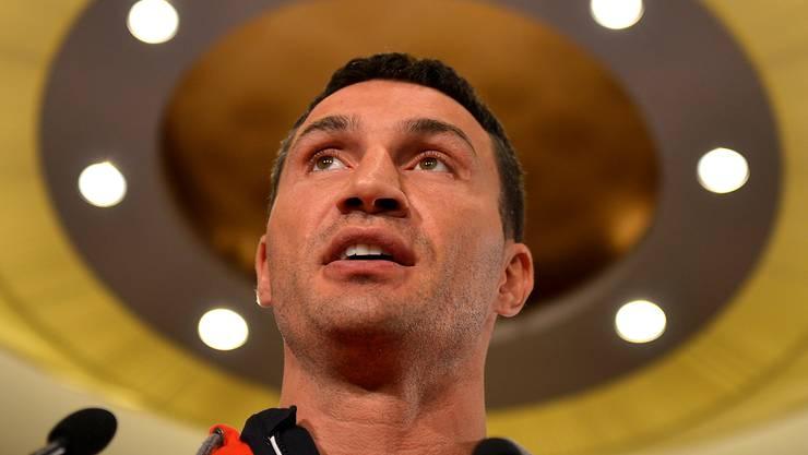Der Ukrainer Wladimir Klitschko boxt heute nicht nur um den WM-Titel.Martin Meissner/Keystone