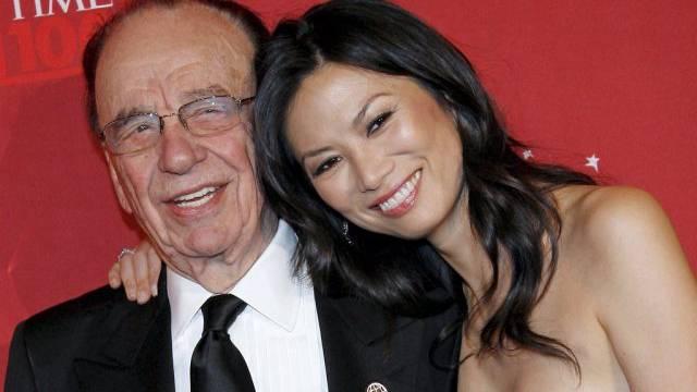 Im Jahr 2008 offenbar noch glücklich: Das Ehepaar Murdoch