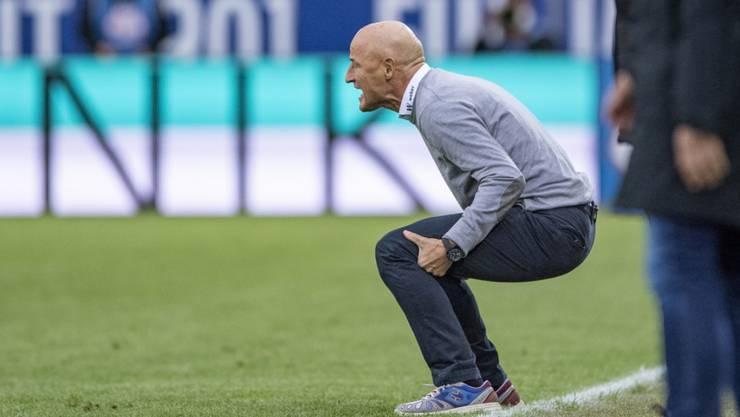 St. Gallens Trainer Peter Zeidler will heute den Schweizer Meister YB in die Knie zwingen