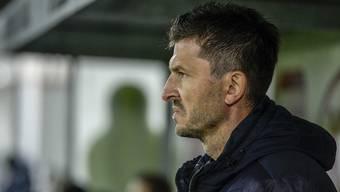 Unter Druck: Der Aarauer Trainer Marinko Jurendic braucht gegen Chiasso dringend einen Sieg.