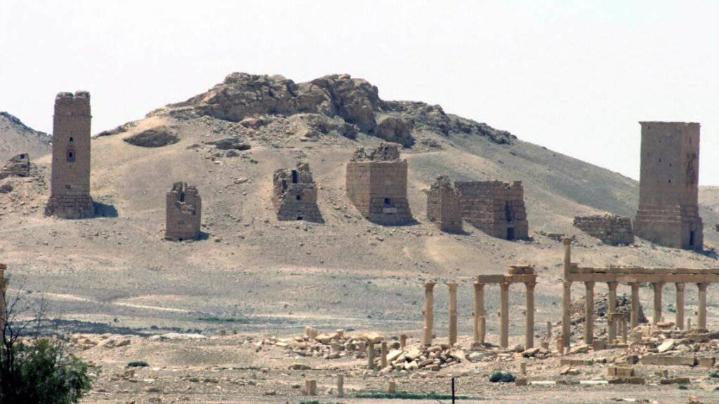 Die Terrormiliz IS hat nach Angaben der syrischen Behörden mehrere der um die 2000 Jahre alten Grabtürme von Palmyra zerstört. (Archivbild)