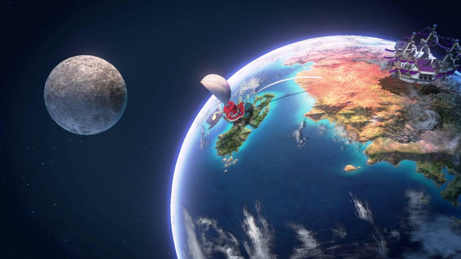 Unser Raumschiff - die Odyssey - führt uns von Königreich zu Königreich (© Nintendo.com)