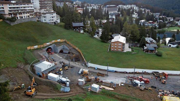 Die Bauarbeiten haben begonnen: Der Arosertunnel wird für 22 Millionen Franken saniert.