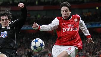 Samir Nasri erzielte die 1:0-Führung für Arsenal.