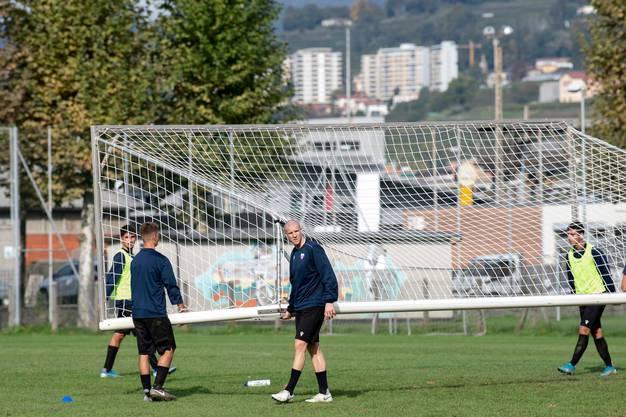 Nach wochenlangem Aufbautraining hofft Philippe Senderos, am Sonntag erstmals für den FC Chiasso aufzulaufen.