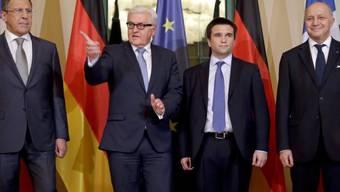 Aussenminister-Treffen: Lawrow, Steinmeier, Klimkin und Fabius