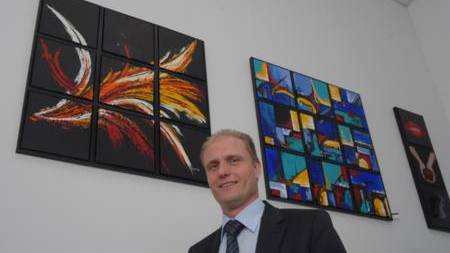 Josef Bütler in der Ausstellung «Menschen und Umwelt»