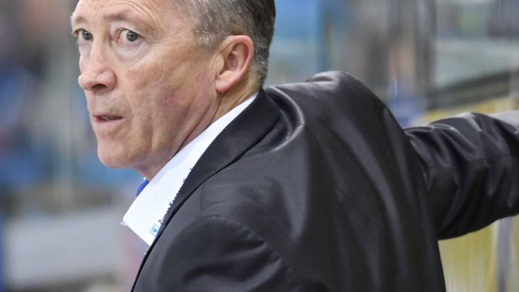 Führt mit dem EV Zug trotz skeptischem Blick in der Halbfinal-Serie gegen Davos bereits 2:0: Cheftrainer Harold Kreis