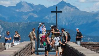Der Schweizer Bergtourismus erlebt in diesem Sommer auch dank der Hitze einen Aufschwung. (Foto: Monte Tamaro am 15. August 2018)