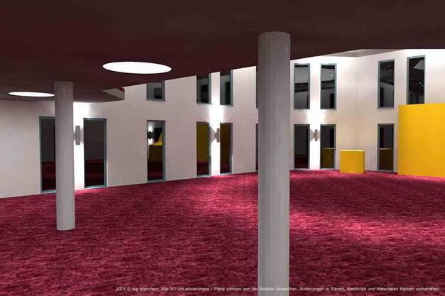 So soll die Innenansicht der geplanten Moschee in Grenchen aussehen