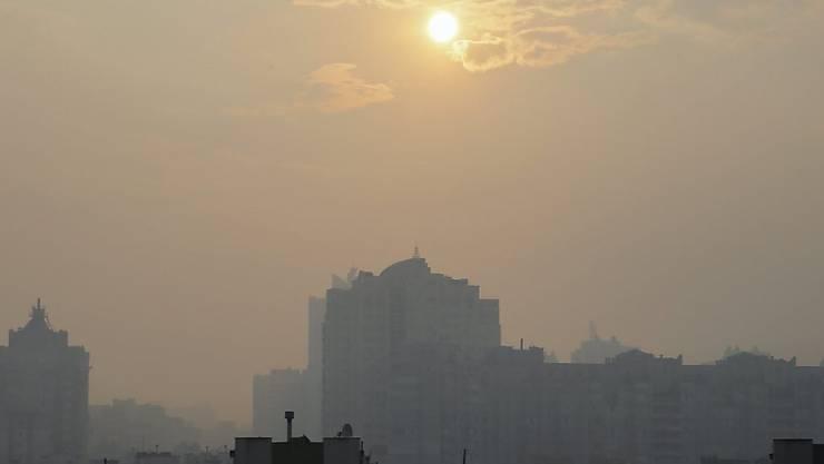 Kiew ist derzeit in Rauch gehüllt.