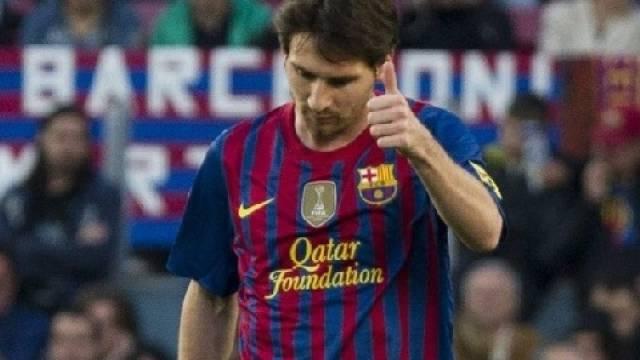 Lionel Messi bei 69 Saisontreffern angelangt.